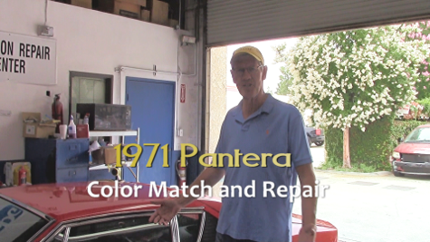 71 pantera color match paint repair