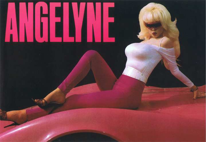 angelyne on her pink corvette by thecrashdoctor.com