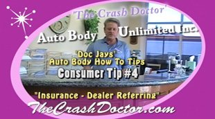 Dr Jay hosting video consumer awareness tip 4 for the crash doctor website photo from www.thecrashdoctor.com